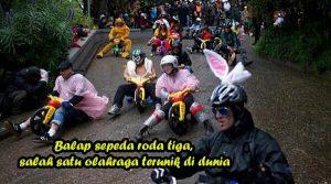 Balap sepeda roda tiga, salah satu olahraga terunik di dunia